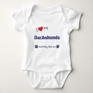 I Love My Dachshunds (Many Dogs) Baby Bodysuit