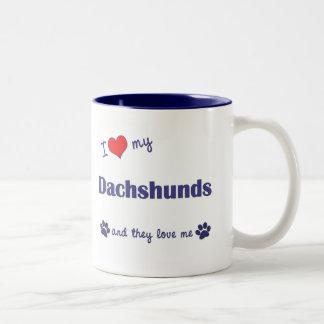 I Love My Dachshunds (Many Dogs) Coffee Mug