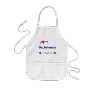 I Love My Dachshunds (Multiple Dogs) Kids' Apron