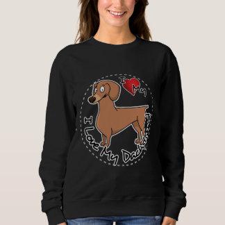 I Love My Dachsund Dog Sweatshirt