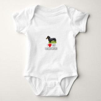 I love My Dacshund Baby Bodysuit