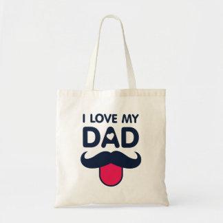 I love my dad cute moustache icon