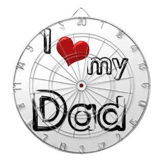 i love my dad dart board