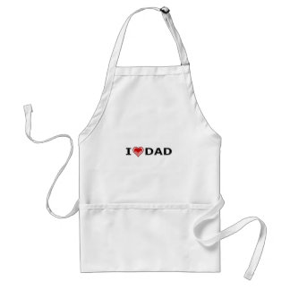 I Love My Dad Standard Apron