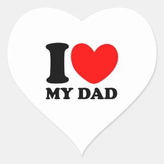 I Love My Dad Heart Sticker