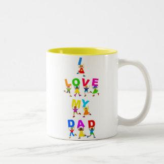 I Love My Dad Two-Tone Coffee Mug