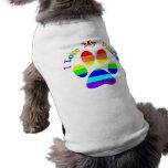 I Love My Daddies Rainbow Paw Dog Tees Doggie Tee