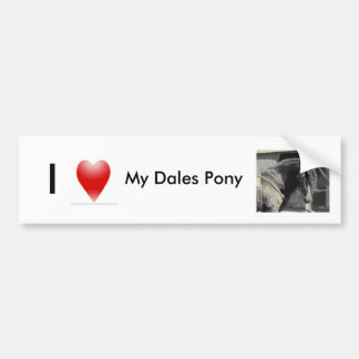 I love my Dales Pony Bumper Sticker