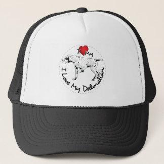 I Love My Dalmatian Dog Trucker Hat
