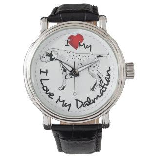 I Love My Dalmatian Dog Wristwatch