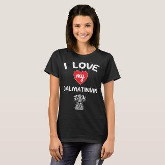 I love my Dalmatian Face Graphic Art T-Shirt