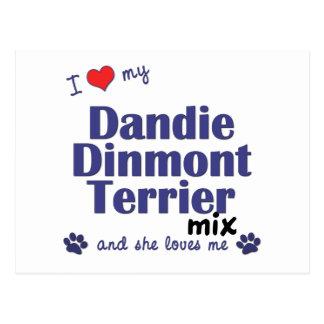 I Love My Dandie Dinmont Terrier Mix (Female Dog) Postcards