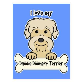 I Love My Dandie Dinmont Terrier Post Cards