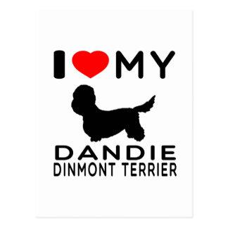 I Love My Dandie Dinmont Terrier. Postcard