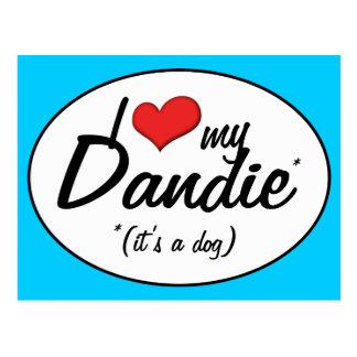 I Love My Dandie (It's a Dog) Postcard
