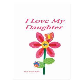 i love my daughter spd postcard