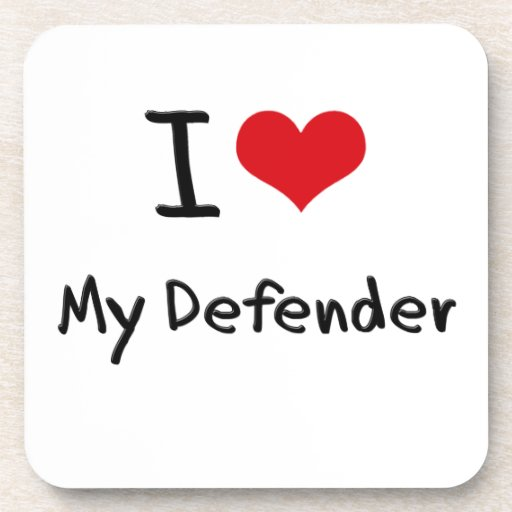 I Love My Defender Coasters