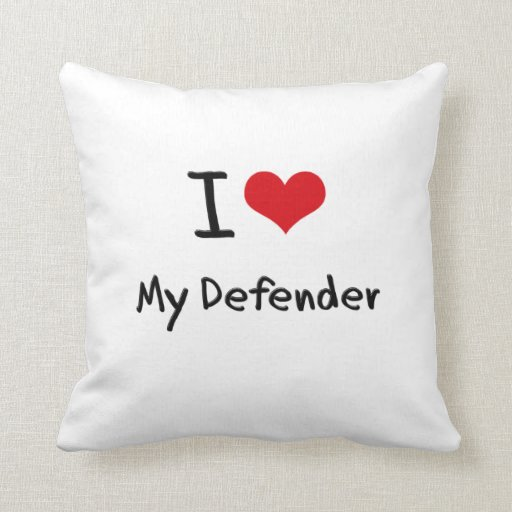 I Love My Defender Pillow