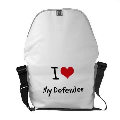 I Love My Defender Messenger Bags