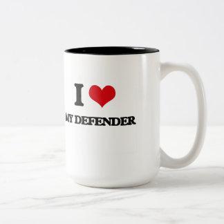 I Love My Defender Mugs
