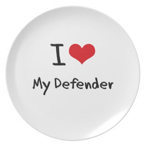 I Love My Defender Party Plate
