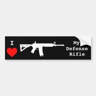 I Love My Defense Rifle Bumper Sticker