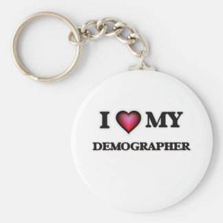 I love my Demographer Basic Round Button Key Ring