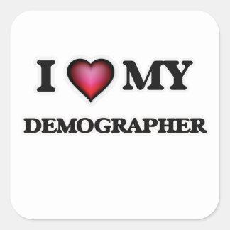 I love my Demographer Square Sticker