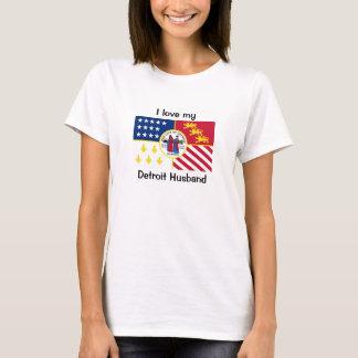 I love my Detroit Husband T-Shirt