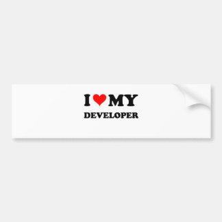 I Love My Developer Bumper Stickers