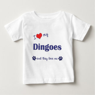 I Love My Dingoes (Multiple Dogs) Baby T-Shirt