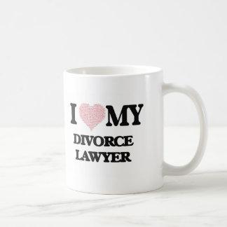 I love my Divorce Lawyer (Heart Made from Words) Basic White Mug