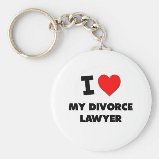 I love My Divorce Lawyer Keychain