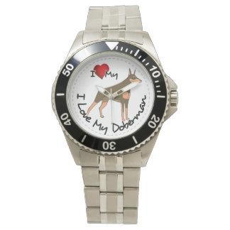 I Love My Doberman Dog Watch