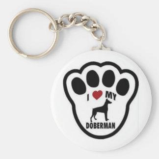 I love my Doberman paw print Key Ring