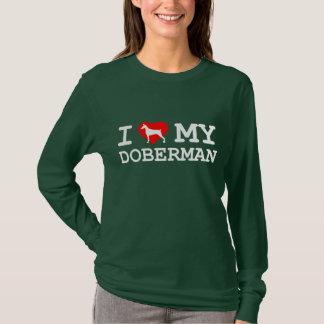 """""""I Love My Doberman"""" Women's Long Sleeve -Dark T-Shirt"""