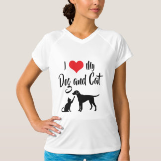 I Love My Dog and Cat T-Shirt