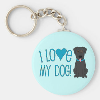 I love my dog! key ring