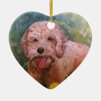 I love my dog Oranament Goldendoodle /Labradoodle. Ceramic Ornament