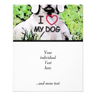 "i love my dog, toony 4.5"" x 5.6"" flyer"