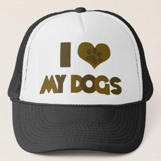 I Love my Dogs Trucker Hat