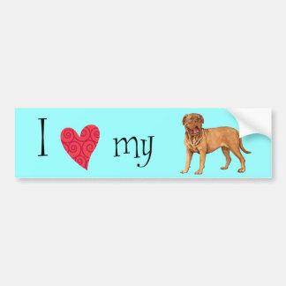 I Love my Dogue de Bordeaux Bumper Sticker