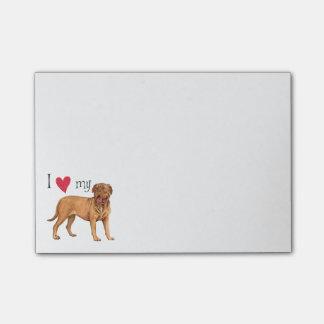 I Love my Dogue de Bordeaux Post-it® Notes