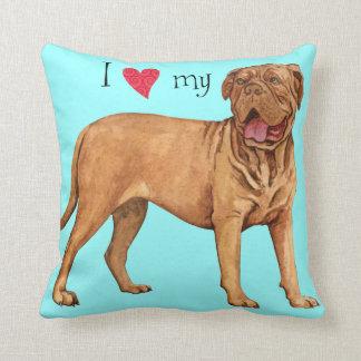 I Love my Dogue de Bordeaux Throw Cushion
