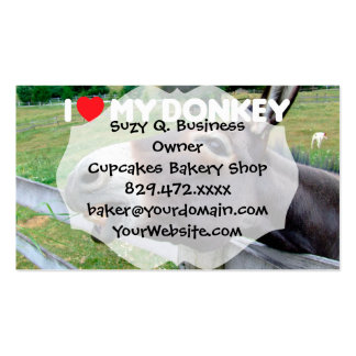I Love My Donkey Funny Mule Farm Animal Double-Sided Standard Business Cards (Pack Of 100)