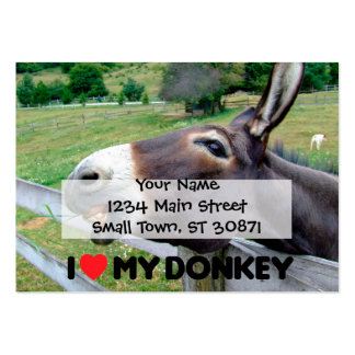 I Love My Donkey Funny Mule Farm Animal Large Business Cards (Pack Of 100)