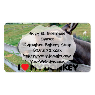 I Love My Donkey Funny Mule Farm Animal Pack Of Standard Business Cards