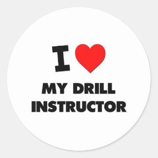 I love My Drill Instructor Classic Round Sticker