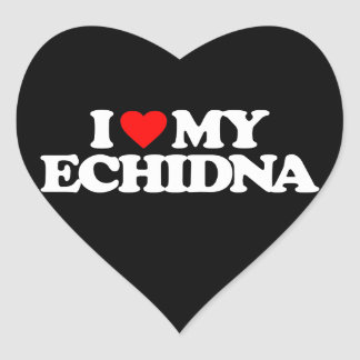 I LOVE MY ECHIDNA HEART STICKERS