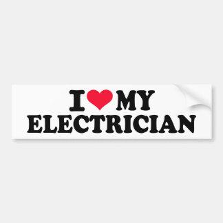 I love my Electrician Bumper Sticker